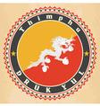 Vintage label cards of Bhutan flag vector image vector image