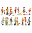 women and men in various lifestyles cartoon vector image