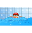 Swimming vector image