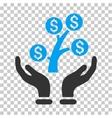 Money Tree Care Hands Icon vector image