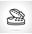 Simple line pair of sneakers icon vector image