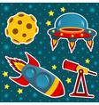 icon set space vector image