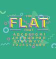 80 s retro alphabet font vintage alphabet vector image vector image