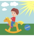 A boy on horseback vector image