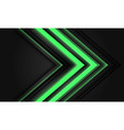 abstract green neon arrow light direction on black vector image