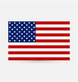 american flag image of american flag american vector image vector image