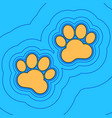 animal tracks sign sand color icon with vector image