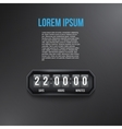 Background Coming Soon and countdown timer vector image