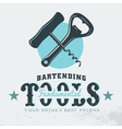 Bartender Profession Print Design Corkscrew vector image