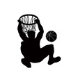 Basketball Player Dunking Ball vector image vector image