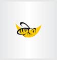 bee icon clip art symbol vector image