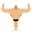 Big strong male athletics Bodybuilder with huge vector image vector image