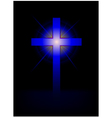 blue cross background vector image vector image