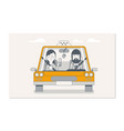 booking taxi via mobile app taxi car and taxi vector image vector image