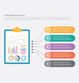 business finance or financial report infographic vector image vector image