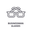 businessman glasses line icon outline sign vector image vector image