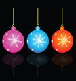 christmas decorativ ball vector image vector image