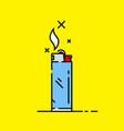 cigarette lighter icon vector image vector image