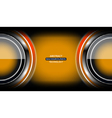 circle gold abstract tech background