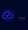 cloud data storage or computing concept cyber vector image vector image