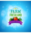 Colorful poster design for Farm Fresh produce vector image vector image