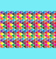 colorful triangular abstract background vector image vector image