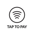 contactless nfc wireless pay sign logo credit vector image