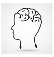 Creative head brain idea concept vector image vector image