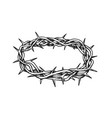 crown of thorns antique tool for pain ink vector image
