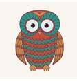decorative cute owl vector image vector image