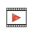 drawing strip film play movie cinema symbol vector image