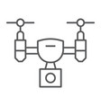 drone thin line icon device quadcopter vector image vector image
