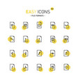 easy icons 24d files vector image