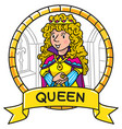 emblem of queen or princess vector image vector image