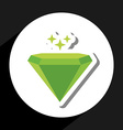 emerald icon vector image