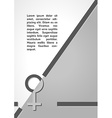 female sign dark infographics vector image vector image