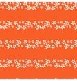 Floral lines seamless pattern Horizontal leaf vector image