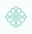 Geometric arabic logo pattern vector image