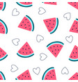 hand drawing pattern seamless watermelon il vector image vector image