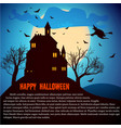 happy halloween dark template vector image