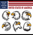 hawk eagle head usa logo mascot icon illu vector image
