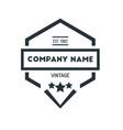 hexagon vintage hipster badge logo design vector image vector image