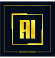 initial letter ai logo template design vector image vector image