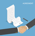 isometric flat concept of agreement vector image