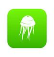 jellyfish icon digital green vector image vector image