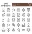 law line icon set justice symbols collection vector image