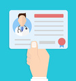 license doctor in hand vector image vector image
