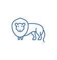lion line icon concept lion flat symbol vector image vector image