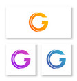 logo letters c and g with abstract shapes vector image vector image