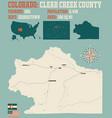 map clear creek county in colorado vector image vector image